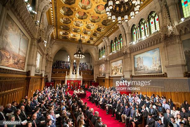 Governor General David Johnston presides over the Senate as he prepares to deliver the Speech from the Throne at the start of Canada's 42nd...