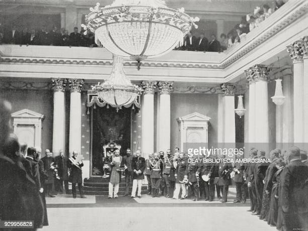 Governor General Nikolai Gerard reading the Tsar of Russia's message at the inauguration of the new Finnish parliament in Helsinki May 24 Finland...