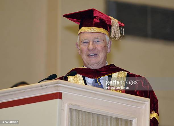 Governor General of Canada David Johnston delivers his acceptance speech after being conferred LL.D at the Special Convocation of National Law...