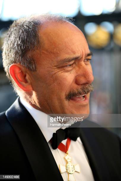 Governor General Sir Jerry Mateparae attends the NZOC Governor General's Gala Dinner ahead of the London 2012 Olympic Games at Banqueting House...