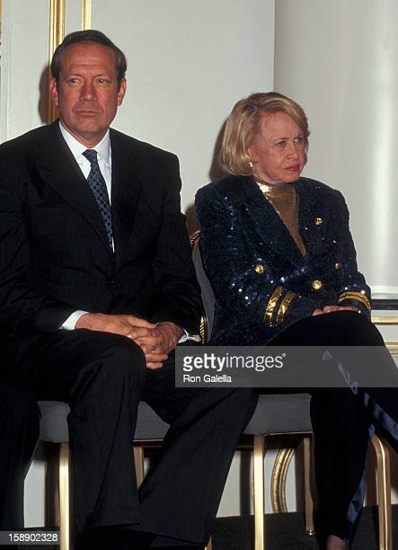 Governor George Pataki and columnist Liz Smith attend the grand opening of Le Cirque 2000 on April 30 1997 in New York City