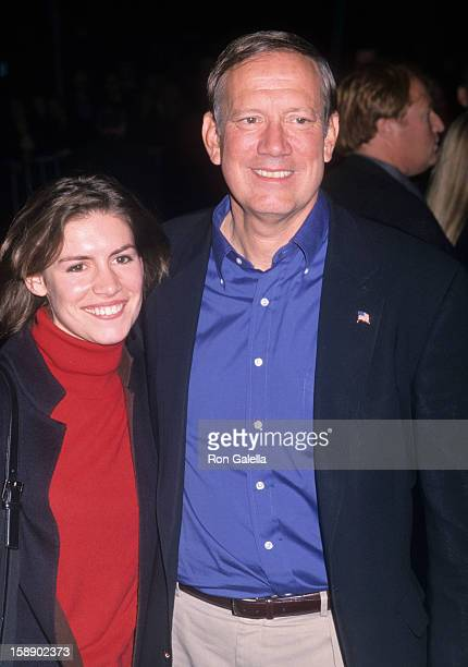 Governor George Pataki and daughter Emily Pataki attend the party for The Concert for New York on October 20 2001 at the Hudson Hotel in New York City