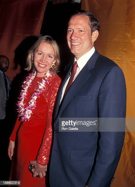Governor George Pataki and wife Libby Pataki attend the party to Save the Nature Conservancy Benefit on June 3 1998 at Central Park in New York City