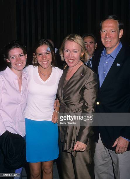 Governor George Pataki wife Libby Pataki and family attend the premiere of Stars Wars Episode IIAttack of the Clones on May 12 2002 at Tribeca Arts...