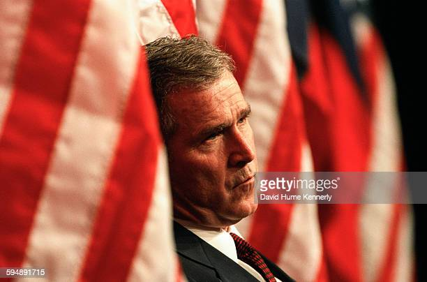 Governor George W Bush at the announcement of his presidential exploratory committee for the 2000 GOP bid March 8 1999 in Austin Texas