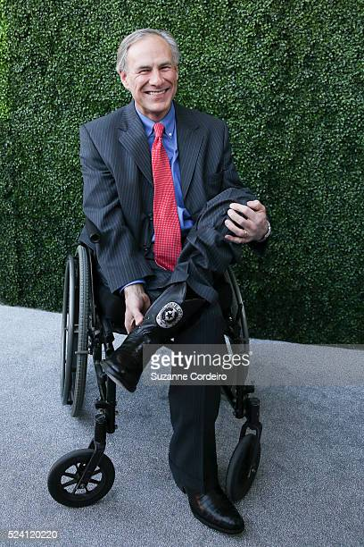 Governor Greg Abbott poses on the red carpet for the Texas Medal of Arts Awards on Wednesday February 25 at the Long Center in Austin Texas