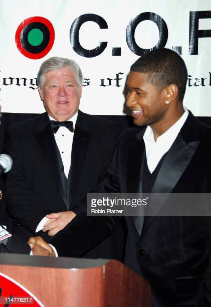 Governor Haley Barbour and Usher during CORE Hosts the Martin Luther King Ambassadorial Reception and Awards Dinner Reception at New York Sheraton...
