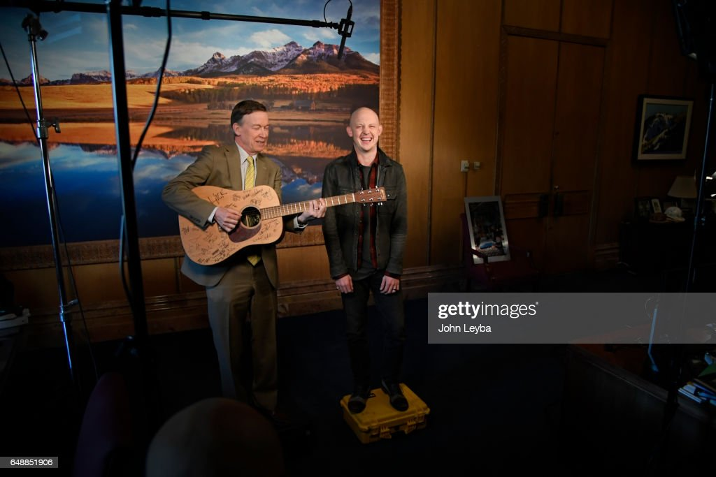 PSA announcement with Governor Hickenlooper and The Fray's Isaac Slade : News Photo