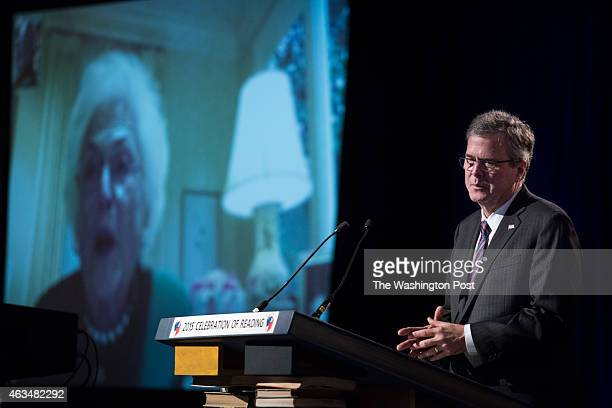 Governor Jeb Bush attends a Celebration of Reading event that benefits the Barbara Bush Foundation for Family Literacy at the Hyatt Regency Coconut...