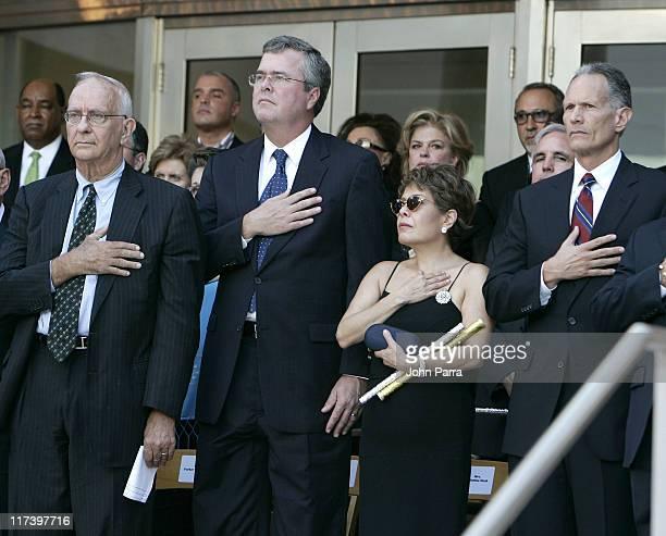 Governor Jeb Bush Columba Bush and Mayor Carlos Alvarez