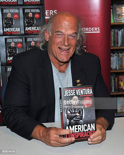 Governor Jesse Ventura promotes American Conspiracies at Borders Wall Street on March 10 2010 in New York City
