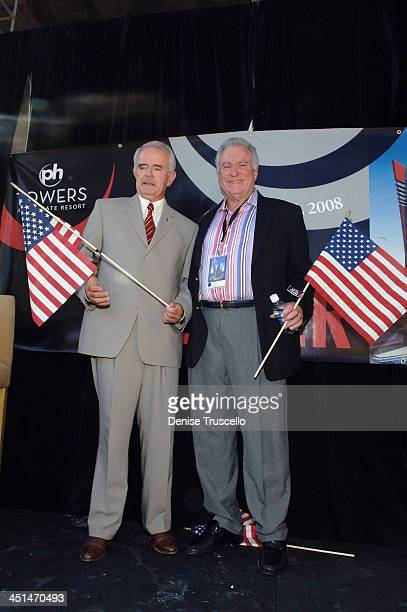 Governor Jim Gibbons and President and CEO of Westgate David A Siegel attend Planet Hollywood Towers by Westgate topping off at Planet Hollywood...