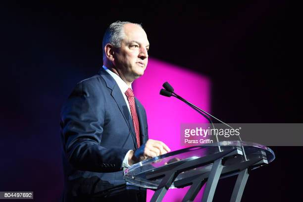 Governor John Bel Edwards speaks onstage at the 2017 ESSENCE Festival presented by Coca-Cola at Ernest N. Morial Convention Center on June 30, 2017...