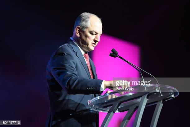 Governor John Bel Edwards speaks onstage at the 2017 ESSENCE Festival presented by CocaCola at Ernest N Morial Convention Center on June 30 2017 in...