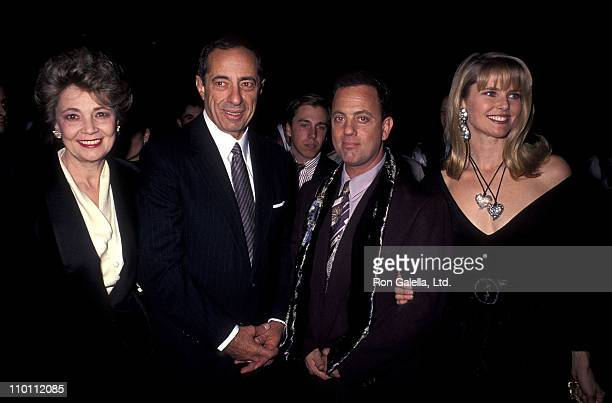 Governor Mario Cuomo and wife Matilda Cuomo and musician Billy Joel and model Christie Brinkley attend A Divine Celebration Cathedral of St John the...