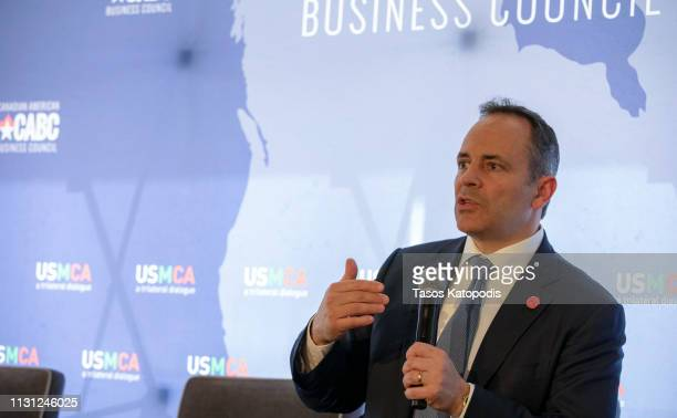 Governor Matt Bevin of Kentucky talks at the Prospects for USMCA Ratification Trilateral Dialogue on February 21 2019 in Washington DC