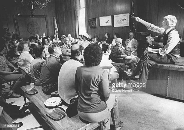 MAY 26 1976 MAY 27 1976 Governor Meets Protesting Taxpayers Gov Dick Lamm calls on a questioner during a public meeting with protesting taxpayers in...