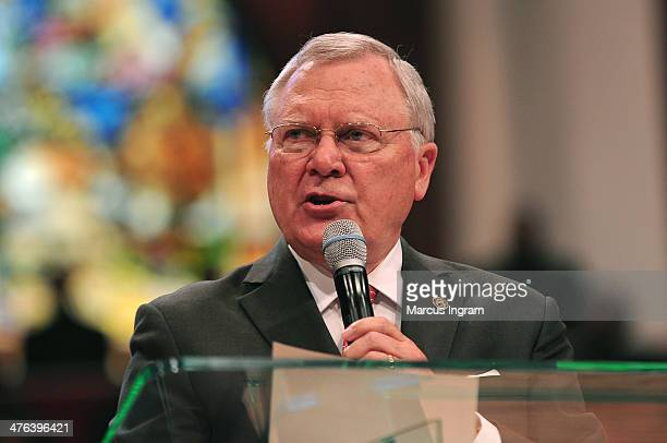 Governor Nathan Deal speaks in honor of EDS 10 Years of Pastoring and 25 Years of Preaching at Greater Traveler's Rest Baptist Church on March 2 2014...