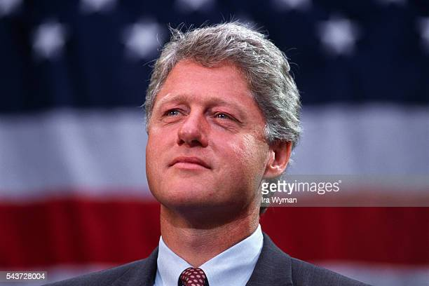 Governor of Arkansas and Democratic Party candidate Bill Clinton campaigns for the presidency in Georgia. | Location: Sylvester, Georgia, USA.