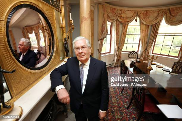 Governor of Bank of England Sir Mervyn King during a visit to Soho House Birmingham the residence industrialist Matthew Boulton to officially mark...