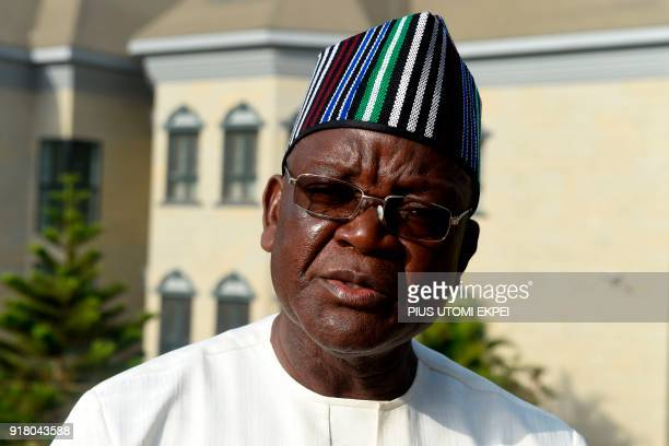 Governor of Benue State Samuel Ortom speaks about internally displaced people and farmer's violent clashes from Logo and Guma communities at Gbajimba...