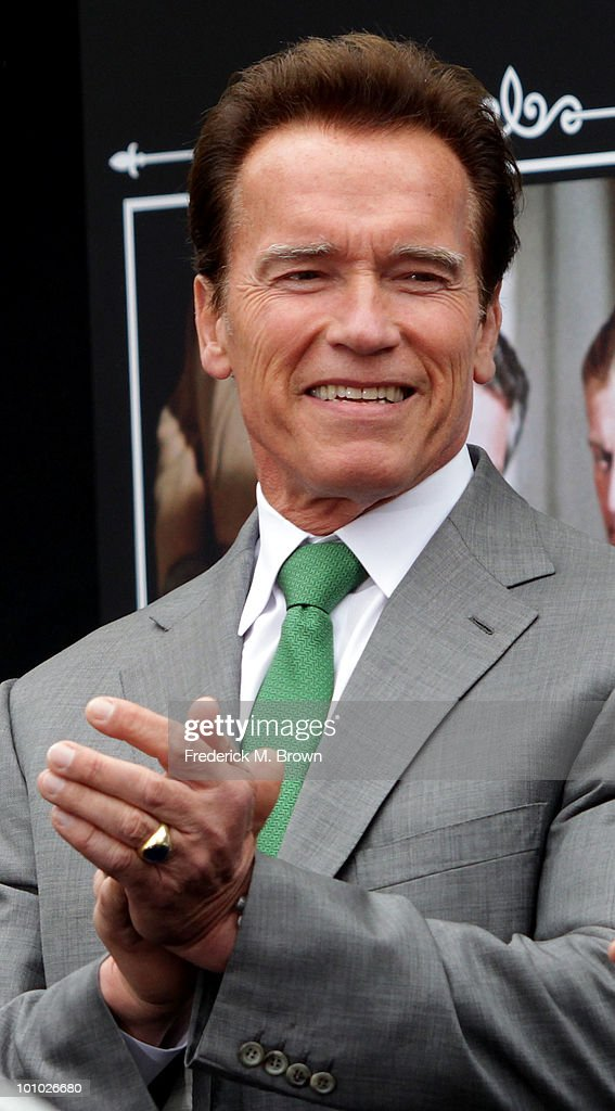 Governor of California Arnold Schwarzenegger speaks during the reopening of Universal Studios' back lot on May 27, 2010 in Universal City, California.