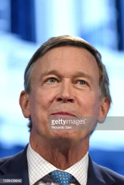 Governor of Colorado Hon John Hickenlooper speaks onstage during the 2018 Concordia Annual Summit Day 1 at Grand Hyatt New York on September 24 2018...