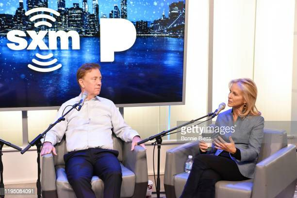 Governor of Connecticut Ned Lamont and Anne Lamont speak during SiriusXM Business Radio's 'Making A Leader' Series with Governor Ned Lamont and Wife...