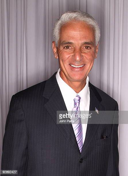 Governor of Florida Charlie Crist attends 15th Annual InterContinental Miami MakeAWish Ball on November 7 2009 in Miami Florida