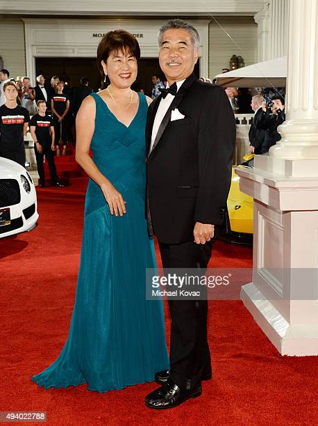 Governor of Hawaii David Ige and Dawn AmanoIge arrive at the 6th Annual Hawaii European Cinema Film Festival Awards Gala at The Moana Surfrider on...