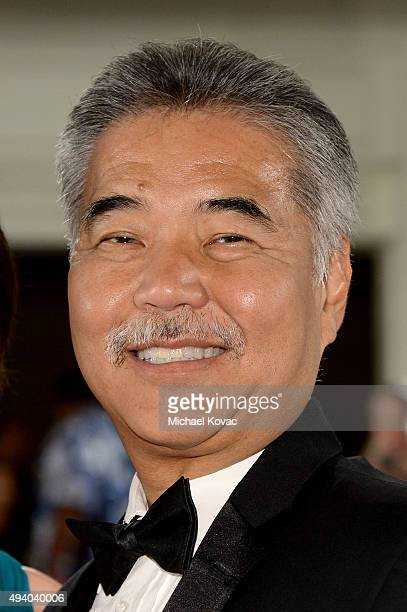 Governor of Hawaii David Ige arrives at the 6th Annual Hawaii European Cinema Film Festival Awards Gala at The Moana Surfrider on October 23 2015 in...