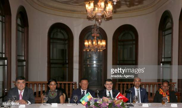 Governor of Istanbul Vasip Sahin gives dinner in honor of Ethiopian President Mulatu Teshome Wirtu and his wife at Adile Sultan Palace in Istanbul,...