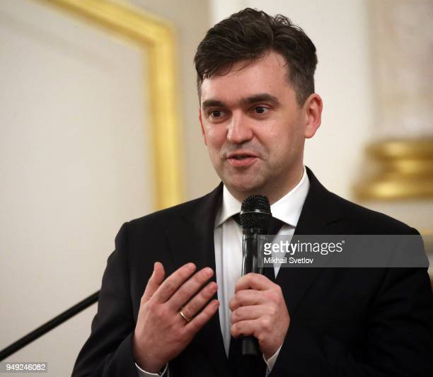 Governor of Ivanovo oblast Stanislav Voskresensky attends a meeting with graduates of the Leaders of Russia management school at the Kremlin in...