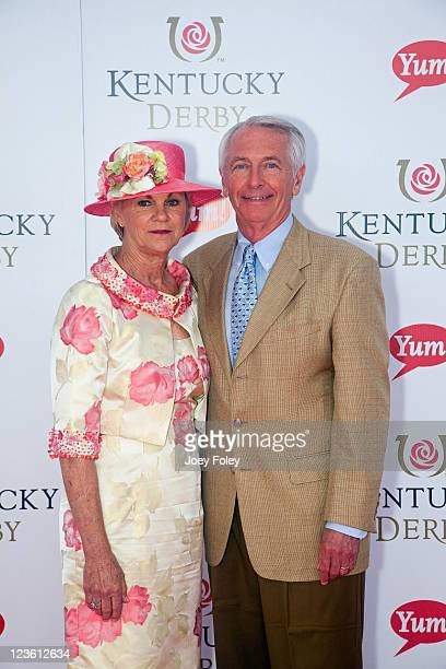 Governor of Kentucky Steve Beshear and his wife Jane Beshear attend the 137th Kentucky Derby at Churchill Downs on May 7 2011 in Louisville Kentucky