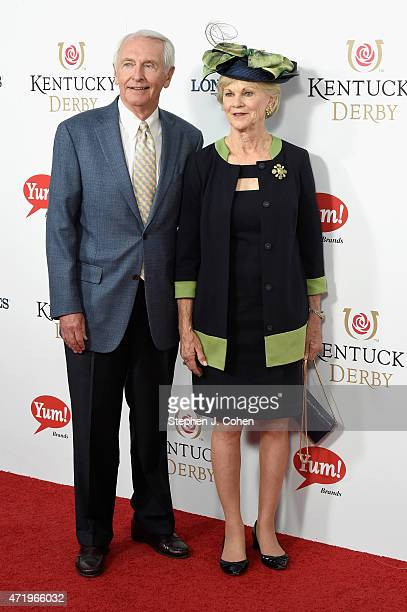 Governor of Kentucky Steve Beshear and Jane Beshear attend the 141st Kentucky Derby at Churchill Downs on May 2 2015 in Louisville Kentucky