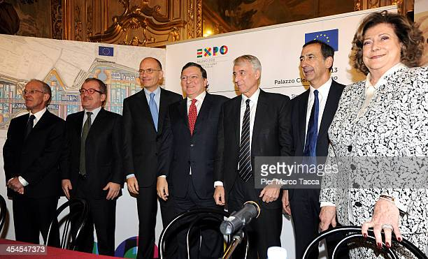 Governor of Lombardy Roberto Maroni Italian Prime Minister Enrico Letta EU Commissioner President Jose Manuel Barroso Mayor of Milan Giuliano Pisapia...