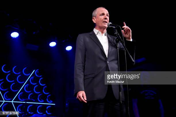 Governor of New Jersey Phil Murphy speaks onstage during the Grand ReOpening of Asbury Lanes at Asbury Lanes on June 18 2018 in Asbury Park New Jersey
