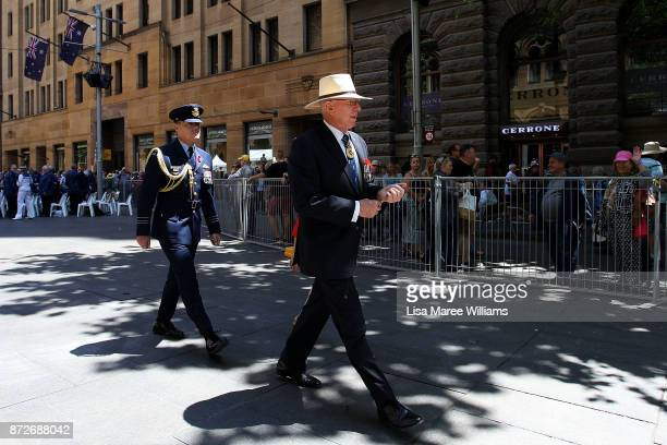 Governor of New South Wales David Hurley attends the Remembrance Day Service held at the Cenotaph Martin Place on November 11 2017 in Sydney...