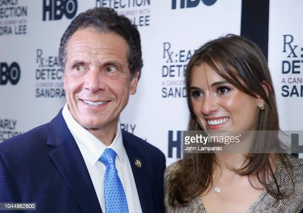 Governor of New York State Andrew Cuomo and Mariah Kennedy Cuomo attend RX Early Detection A Cancer Journey With Sandra Lee New York screening at HBO...