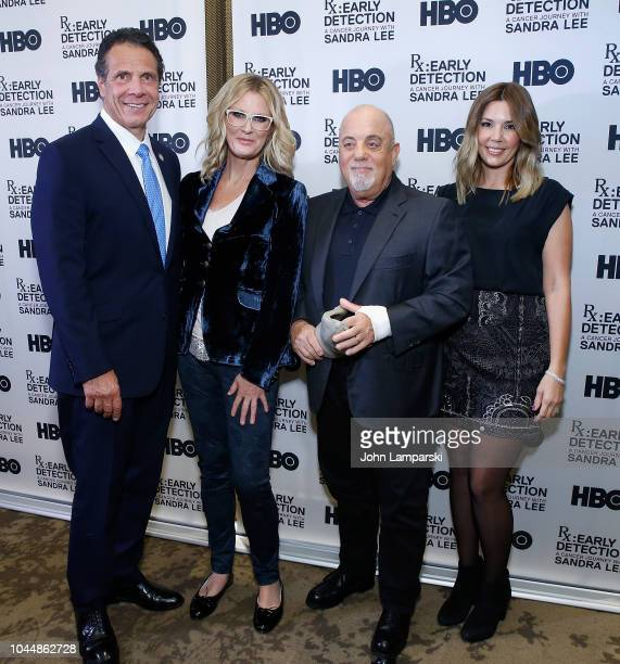 Governor of New York State Andrew Cuomo Sandra Lee Billy Joel and Alexis Joel attend 'RX Early Detection A Cancer Journey With Sandra Lee' New York...