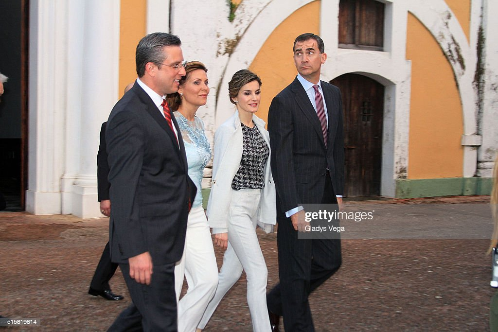 King Felipe VI And Queen Letizia Visit San Juan, Puerto Rico - Day 1 : News Photo