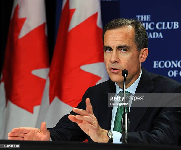 Governor of the Bank of Canada Mark Carney in Toronto speaking toEconomic Club of Canada followed by a Presser.Carney with last question at...