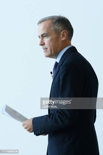 Governor of the Bank of England Mark Carney attends a launch event for the new twenty pound note featuring late British painter JMW Turner during the...