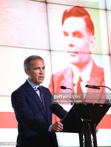 Governor of the Bank of England Mark Carney during the announcement that Second World War codebreaker Alan Turing has been selected to feature on the...