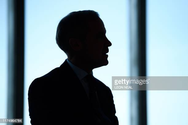 Governor of the Bank of England, Mark Carney is seen at a launch of the new twenty pound note design featuring late British painter JMW Turner, at...