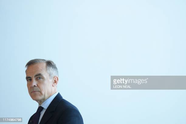 Governor of the Bank of England Mark Carney is seen at a launch of the new twenty pound note design featuring late British painter JMW Turner at...