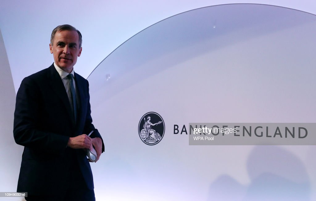 Mark Carney Holds Bank Of England Press Conference : News Photo