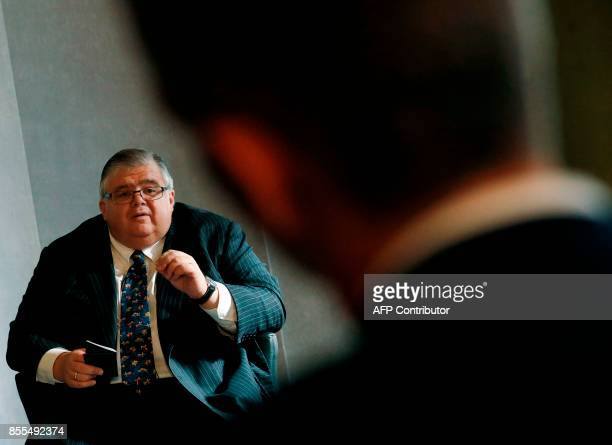 Governor of the Bank of Mexico, Agustin Carstens speaks at the Bank of England's 'Independence 20 years on' conference, in central London on...