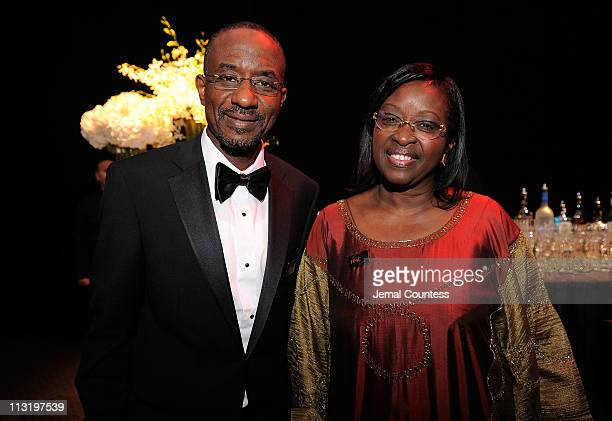 Governor of the Central Bank of Nigeria Lamido Sanusi and Bineta Diop Founder of Femmes Africa Solidarite attend the TIME 100 Gala TIME'S 100 Most...