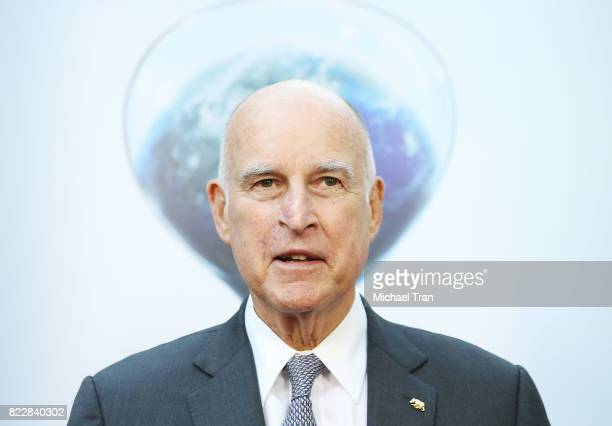 Governor of the state of California Jerry Brown arrives at the Los Angeles premiere of Paramount Pictures' An Inconvenient Sequel Truth To Power held...